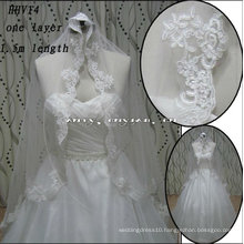 HHV14 2011 Wholesale New One Layer Beautiful Small Lace edge Real Sample Bride Wedding Veil
